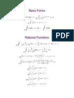 Integration Formulae