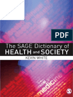 2006 Sage Dictionary of Health and Society