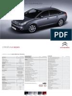Citröen C4 sedan Características técnicas y especificaciones
