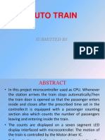 Auto Metro Train to Shuttle Between Stations Seminar Presentation