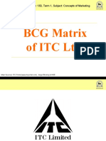 Bcg Matrix of Itc Ltd