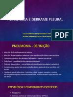 Pneumonia e Derrame Pleural