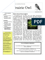 August-September 2007 Prairie Owl Newsletter Palouse Audubon Society