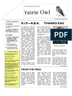 November-December 2006 Prairie Owl Newsletter Palouse Audubon Society
