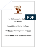 Hey Diddle (Mode, Median, Mean, Range)