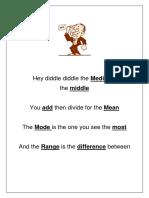 Hey Diddle (Mode, Median, Mean, Range)