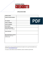 Cineminuto Application Form