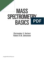 Mass Spectroscopy Basics of Christpher G. Herbert and Robert A.W. Johnstone