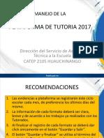 Manejo de La Plataforma de Tutoria 2017