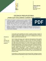 TP 1228 Eficiencia Presupuestaria