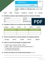 Exercícios Gramaticais V