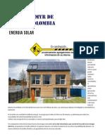 Energia Solar - Cimyr de Colombia
