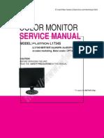Service Manual Lg Flatron l1734s