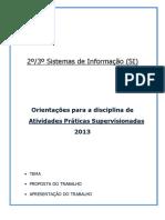 Manual da APS de Sistemas de Informação