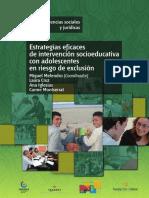 Estrategias eficaces de intervención socioeducativa con adolesc