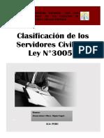 Clasificación de Los Servidores Civiles