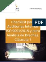 Checklist Auditoria Interna Iso 9001 2015 Analisis Brechas Clausula 7