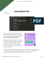 Tips y Trucos Para Sublime Text - EditoresdeCodigo