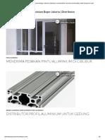 Pintu Jendela Kusen Aluminium Bogor Jakarta Distributor Menyediakan Aluminium Berkualitas Untuk Bangunan Anda