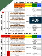 kindergarten long range plan 2016-17