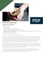 Mince Pie Fudge Drops