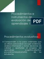 Procedimientos e Instrumentos de Evaluación de Los Aprendizajes