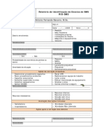 Relatório de identificação de desvios de SMS