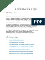 Controlar El Formato Al Pegar Texto