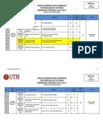 Postgraduate Studies Examination Schedule Semester 1 20162017 – MAINSTREAM Final Latest 151216