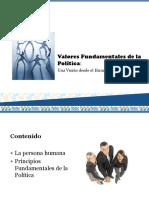 Valores Fundamentales de La Política. Una Visión Desde El Hu