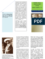 Triptico Revolucion Mexicana