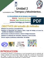 Unidad 2 - Tema 2.1 Generalidades Del Estudio de Tiempos