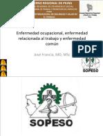 2 - Enfermedades Comunes, Enfermedades Relacionadas Al Trabajo y Enfermedades Ocupacionales- Dr_ Jose Francia