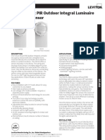 Data Sheet - OSF20 Fixture Mount Outdoor Integral Occupancy Sensor