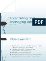 chapter 16 forecasting and managing cash flow