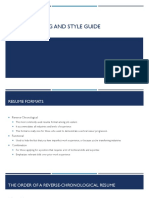 resume writing and style guide