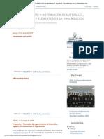 Inventario y Distribución de Materiales, Equipos y Elementos en La Organizacion