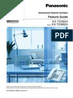 PANASONIC Advanced Hybrid System Feature Guide Model KX-TEM824/KX-TES824