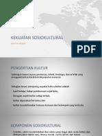 Kekuatan Sosiokultural Dan SDA