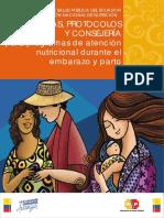 Normas, Protocolos y Consejería Para Programas de Atención Nutricional Durante El Embarazo, Parto