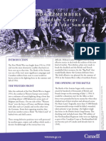 Battle of the Somme Info Sheet