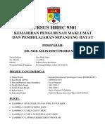 GEE SHUK HUEY A144564 Laporan HHHC9301 Kemahiran Pengurusan Maklumat Dan Pembelajaran Sepanjang Hayat
