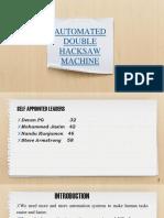 Automated hacksaw machine