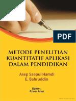 Metode Penelitian Kuantitatif Aplikasi Dalam Pendidikan