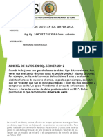 Mineria de Datos en SQL Server 2012