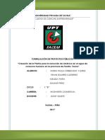 Proyecto Agua Arsenico Tarata UPT XB