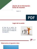 Sesion 13 Recopilacion de Informacion Fichas de Resumen Personales y Mixtas