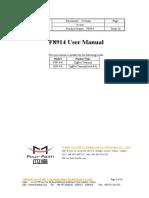 F8914 ZigBee Terminal User Manual V2.0.0