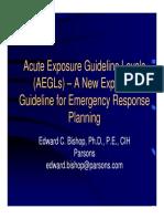 Acute Exposure Guideline Level (AEGL)