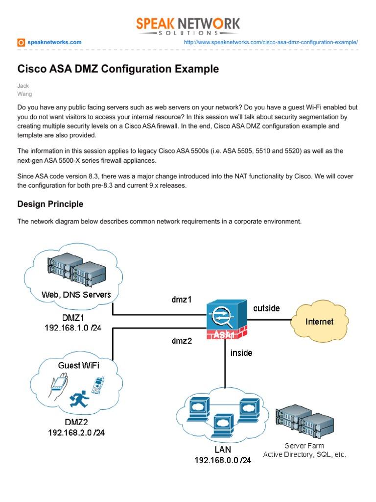 Cisco ASA DMZ Configuration Example pdf1 | Ip Address | Computer Network